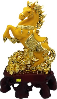 Aica Showpiece  -  15 cm(Ceramic, Gold)