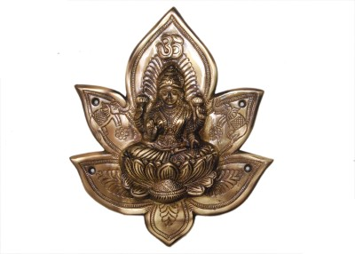 KT Hardware Solutions Goddess Laxmi in a Lotus Wall Decor Showpiece  -  25 cm