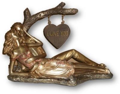 Sudesh Decor Sudesh DecorGolden Copper Tree Desgin Love Couple Show Piece Showpiece  -  23 cm
