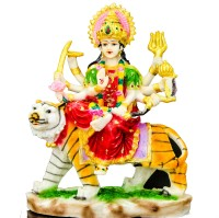 THE HOLY MART Durga Big Polyresin Home Temple(Height: 31 cm)