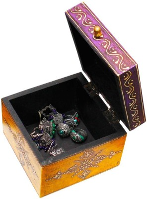 Halowishes Wooden Jewellery Box Stores Jewellery Vanity Box(Multicolor)