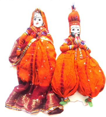 Bharatcraft Rajasthani Couples Showpiece  -  47 cm