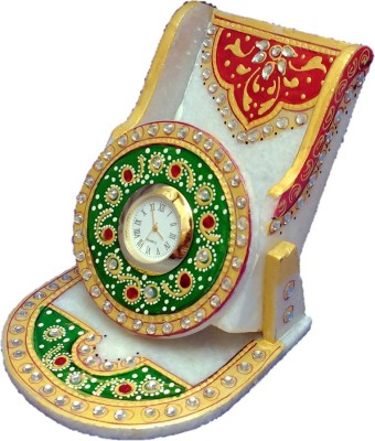 Sancheti Art Mobile Stand With Watch Showpiece  -  11 cm