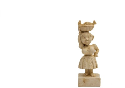Velha Goa Mario Miranda Fisherwoman Figurine Showpiece  -  11.43 cm