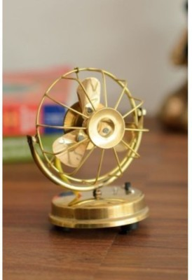 Onlineshoppee Brass Toy Fan Showpiece  -  15.24 cm