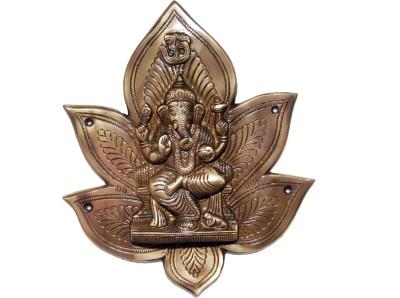 KT Hardware Solutions Ganesha in a Lotus Wall/Door Hanging Showpiece  -  25 cm