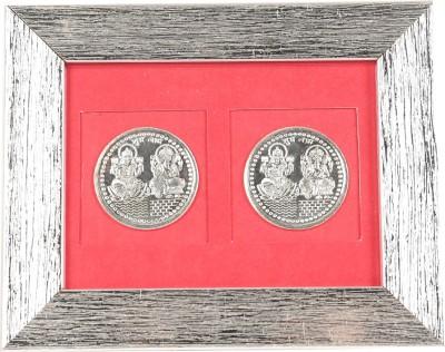 Jewel Fuel Laxmi Ganesha 2 Coin Frame Silver Gift