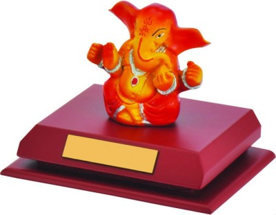 Sale Funda Red and Golden Ganesha Showpiece  -  10 cm