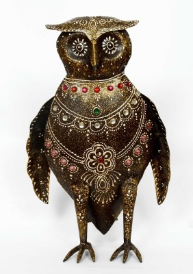 KHUSHI HANDICRAFTS IRON OWL Showpiece  -  27 cm