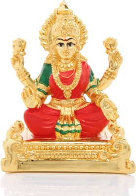 Adaa Goddess Laxmi Devi Statue - Gold Plated Showpiece  -  8 cm