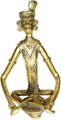 Rays Creative Art Musician Drum (Brass) Showpiece  -  18 cm