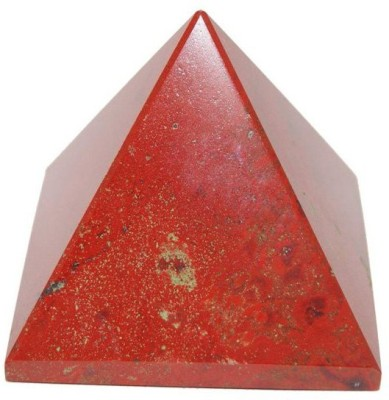 Shubh-Bhakti Fengshui Red Jesper Pyramid For Energy & Confidence Showpiece - 4 cm