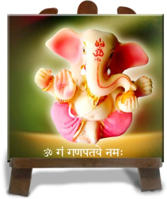 Tiedribbons Lord Ganesh Statue Showpiece  -  12 cm(Ceramic, Red)