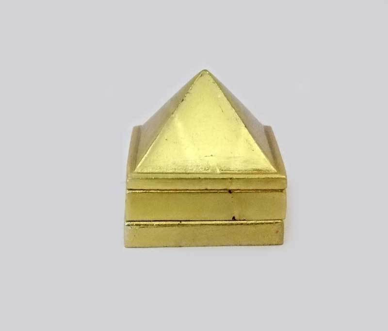Sitare Fengshui 400 gms Panchdhatu Pyramid Showpiece  -  8 cm(Gold, Silver, Copper, Iron, Zinc, Yellow)