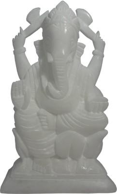 Avinash Handicrafts White Stone Ganesha 16 cm Showpiece  -  16 cm