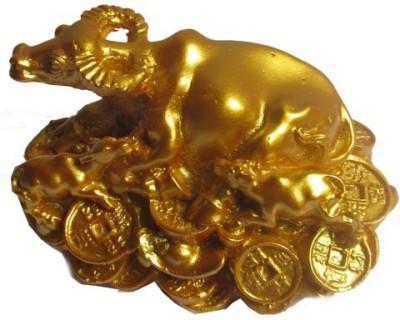 Plus Value Feng Shui Wish Cow Showpiece - 5 cm