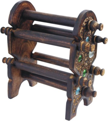 BKDT Marketing Wooden Handicraft Hand Made Beautiful Bangle Stand Showpiece  -  24 cm