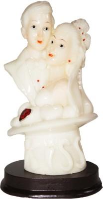 Dharmaraj Links White Half Couple Showpiece  -  21 cm