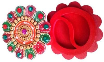 Chitra Handicraft Flower Chopra Showpiece  -  2 cm(Paper Mache, Multicolor)