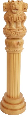 Craft International Wooden Ashoka Pillar 14 Inch Showpiece  -  36 cm