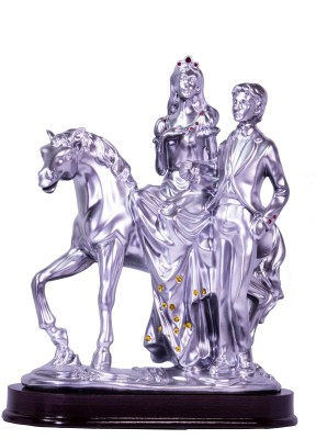 Oyedeal Horse Riding Bride and Groom Showpiece  -  22 cm