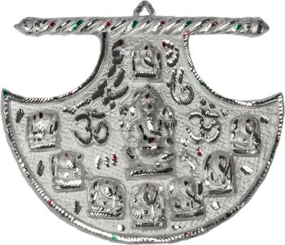 Mangal White Metal Asta Ganesh Pankhi 10k Showpiece  -  36 cm