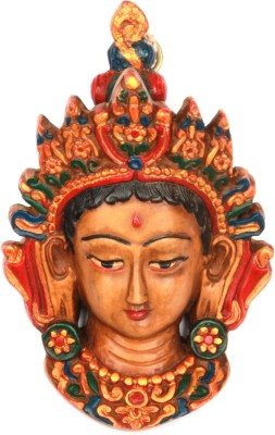 Adaa Beautiful Goddess Durga Face Statue Showpiece  -  13 cm