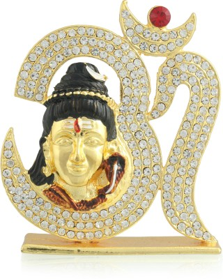 Divine Gifts & Artificial Jewellery Shanker With Om Pindi Golden Prince Golden Showpiece Showpiece  -  9 cm