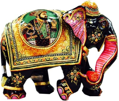 Authentic India Gold Painted Elephant Showpiece  -  15.24 cm