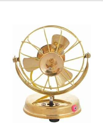 HALF PIZZA ARTS BRASS TABLE FAN WORKING Showpiece     15 cm Brass, Gold  available at Flipkart for Rs.389