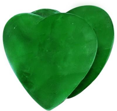 SS Murti Handicrafts Beautiful Green Aventurine Stone Love Double Joint Heart Shape 4 Inch Showpiece  -  10.2 cm(Stoneware, Green)