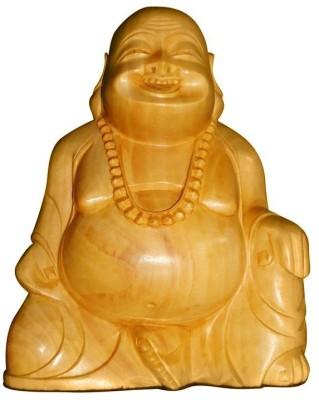 ByCue Wooden Buddha Showpiece  -  8 cm(Wooden, Brown)