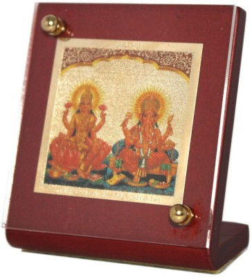 Sitare Ganesh Laxmi Swizz made 24 kt Gold Foil Showpiece  -  6.0 cm