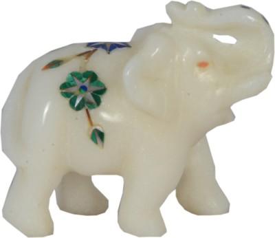 Avinash Handicrafts Marble inlaid Elephant Showpiece  -  5.5 cm