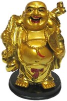 Target retail Vastu Laughing Budha Buddha Happy Man For Wealth Showpiece  -  12 cm(Polyresin, Gold)