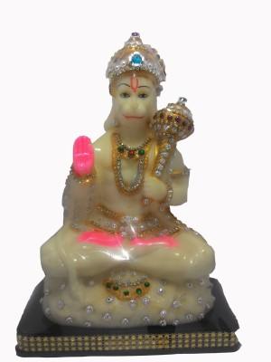 SportsHouse Lord Hanuman Zari Radium Showpiece  -  27 cm