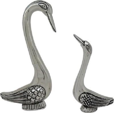 SportsHouse Handicraft Swan Set Showpiece  -  13 cm