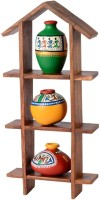 Unravel India Showpiece  -  13 cm(Wooden, Terracotta, Multicolor) best price on Flipkart @ Rs. 1399