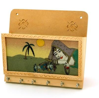 Desert Eshop Rajasthani Gemstone Painting Magazinegift -103 Wooden Key Holder