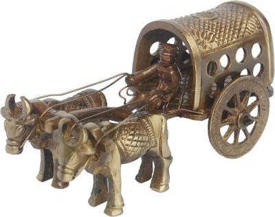 Aakrati Brassware Bull Cart For Decoration Purpose Showpiece  -  6 cm