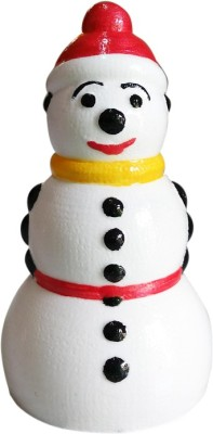 Fancy Interio Smiling Snowman Showpiece  -  8 cm