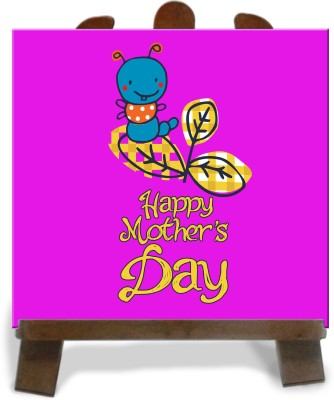 Tiedribbons White Background Happy Mother,S Day Tile Showpiece  -  28 cm