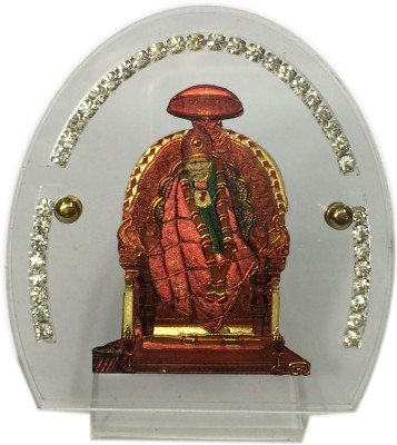 Cardressers Car Dashboard Temple With Stone Showpiece  -  7 cm