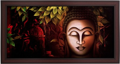 BM Traders Classic Buddha in Brown Frame Showpiece  -  30.48 cm