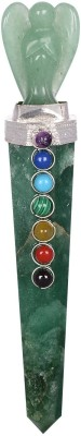 The Crystal Jewel Handcrafted And Polished Green Aventurine Chakra Cab Wand With Angle. Showpiece  -  13 cm