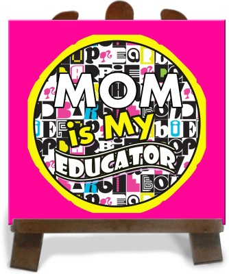 Tiedribbons Mom Is My Educator Tile Showpiece  -  28 cm(Ceramic, Multicolor)