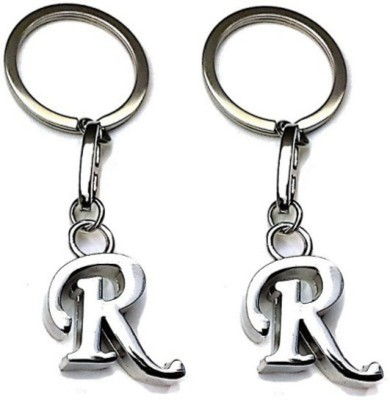 S.B.Enterprises Alphabet letter R Key chain Showpiece  -  4 cm(Steel, Steel)