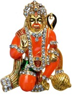 B-Fashionable Hanuman Showpiece  -  6 cm(Gold Plated, Orange)