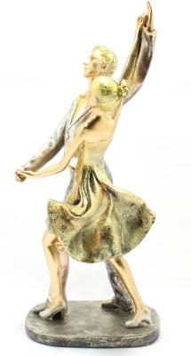 GeetArtz Antique Couple Showpiece  -  34 cm(Polyresin, Multicolor)
