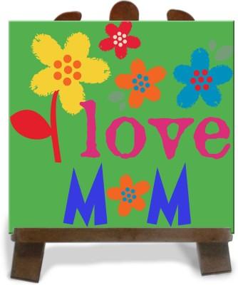 Tiedribbons I Love Mother Tile Showpiece  -  28 cm(Ceramic, Multicolor)